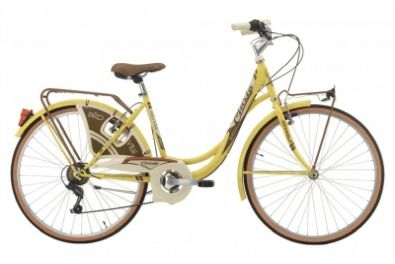 "Ποδήλατο City CINZIA 26"" DECOVILLE LADY 6 Speeds Pastel Yellow"