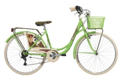 "Ποδήλατο City CINZIA 26"" BELLE EPOQUE LADY 6 SPEEDS APPLE GREEN"