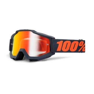 Μάσκα 100% Accuri Enduro Gunmetal Mirror Red & Clear Lens